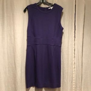 DVF purple dress